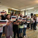 Bilinguale Begrüßung